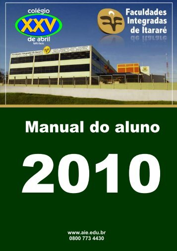 Manual do aluno - Fafit