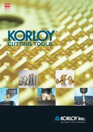 KORLOY Chip-Breakers - Tiger-Tools Kft.