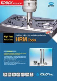Powerful & economic milling tool with double ... - Tiger-Tools Kft.