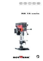 RB 18 vario DE FR IT ES GB - Rotwerk