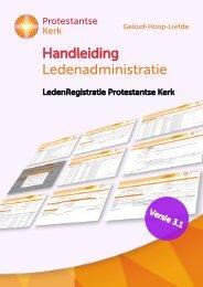 Handleiding Ledenadministratie - Protestantse Kerk in Nederland