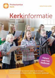 Kerkinformatie nr. 215, juni 2013 - Protestantse Kerk in Nederland