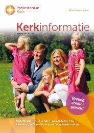 Kerkinformatie nr. 214, mei 2013 - Protestantse Kerk in Nederland
