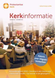 Kerkinformatie nr. 187, december 2010 - Kerk in Actie