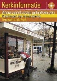 Accra-appèl vraagt geloofskeuzen - Protestantse Kerk in Nederland