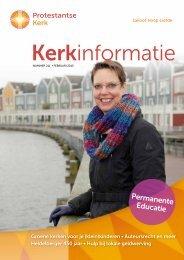 Kerkinformatie februari 2013 - Protestantse Kerk in Nederland