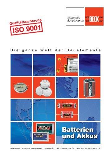 Produktfolder - Kurzübersicht (PDF) - BECK Kabel- und ...