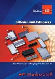 Batterien und Akkupacks