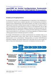 form für eine integrierte CAD-CAM-NC-Prozesskette