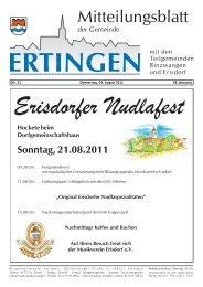 Nr. 31 Donnerstag, 04. August 2011 48. Jahrgang - Ertingen