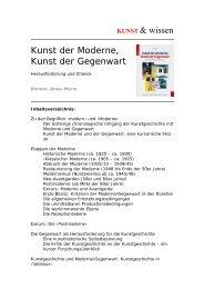 KUNST & wissen Kunst der Moderne, Kunst der Gegenwart