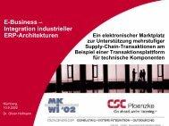 E-Business – Integration industrieller ERP-Architekturen