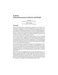 IS-IH'04: Informationssysteme in Industrie und Handel Vorwort