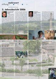 2. Jahresbericht 2006 - Stiftung Mehrwert