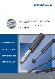 Standard programme for gas springs and dampers ...
