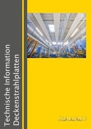 Technisches Handbuch Krobath Sunline Deckenstrahlplatten