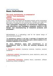 Basic Definitions: what is mechatronics and reference books german-english dictionaries glossaries