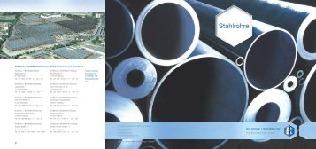 Produktbroschüre Stahlrohre - SCHMOLZ-BICKENBACH.DE