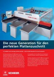 Die neue Generation für den perfekten Plattenzuschnitt - C.F. Scheer