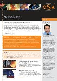 2. oSa Newsletter - Organisation für die Sicherheit von ...