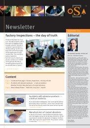 8. oSa Newsletter - Organisation für die Sicherheit von ...