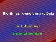 Bioritmus, kronofarmakológia Dr. Lakner Géza