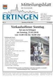 Nr. 11 Donnerstag, 18. März 2010 47. Jahrgang - Ertingen