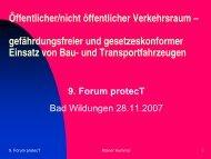 Öffentlicher/nicht öffentlicher Verkehrsraum – gefährdungsfreier und ...