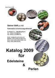 Edelsteine & Perlen Katalog 2009 für Steiner GbRseit 1983 ...