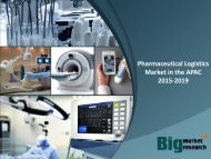 Pharmaceutical Logistics Market in the APAC 2015-2019