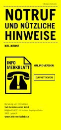 Infomerkblatt Biel-Bienne