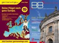 Germanwings bringt Sie 2 x täglich von Berlin nach Zweibrücken ...