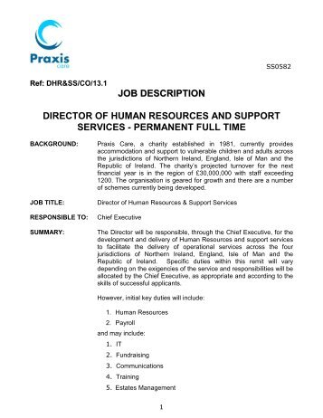 Position Description: Senior Human Resources Advisor