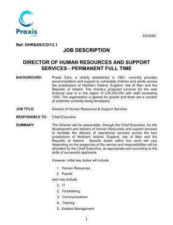 Position Description: Senior Human Resources Advisor
