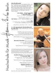 Exzellenz-Konzert im Krönungskutschen-Saal 11. November 2005 ...