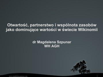 Wspólnota zasobów - Magdalena Szpunar