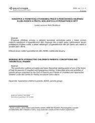 Hyperaktivní chování u dětí v širších souvislostech - E-psychologie