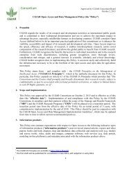 CGIAR OA Policy - October 2 2013 - Approved by Consortium Board
