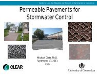 Permeable Pavements for Stormwater Control - Center for Land Use ...
