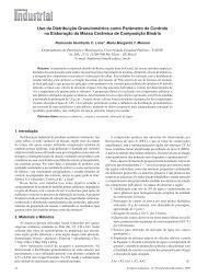 Uso da Distribuição Granulométrica como Parâmetro de Controle na ...