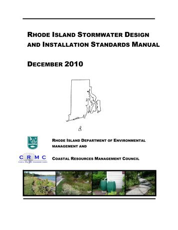 Stormwater Design and Installation Standards Manual