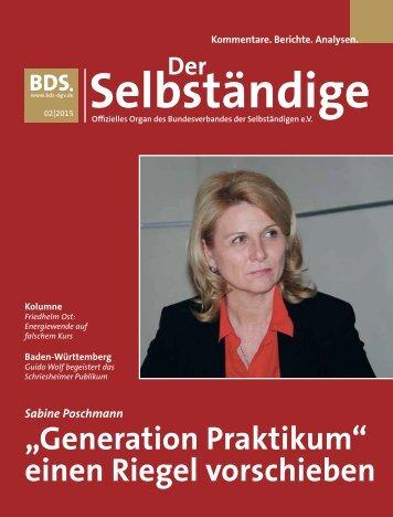 BDS - Der Selbsständige