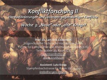 """Woche 3: """"Neue"""" oder """"alte"""" Kriege? - ICR"""