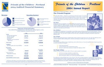 2004 Annual Report - Friends of the Children