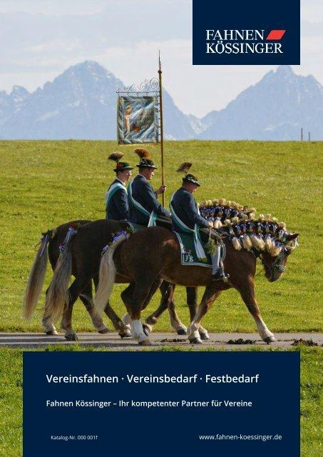 Fahnen Kössinger, Hauptkatalog IV