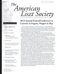 Member News - American Liszt Society