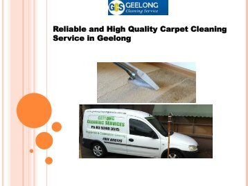 Reliable and High Quality Carpet Cleaning Service in Geelong