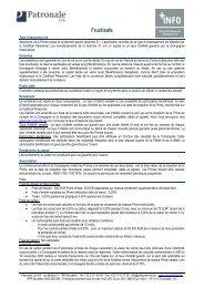 Fiche Info Financière