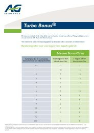 turbo bonus - AG Insurance