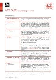 gestandaardiseerde financiële infofiches